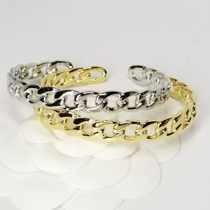 NEW Chain Links Open Cuff Bracelet Bangle